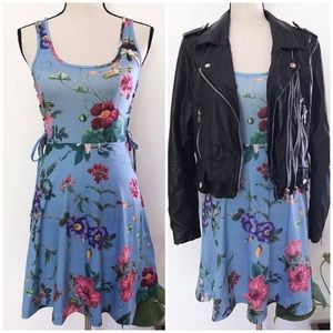 NWT ASOS  Lace Up Floral Blooms Fit & Flare Dress